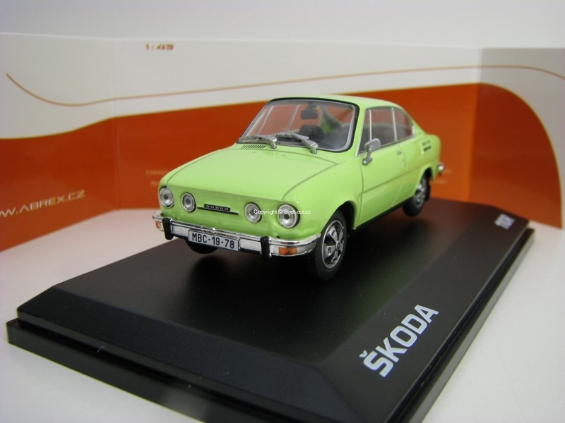 Škoda 110R Coupé 1980 Lime Green 1:43 Abrex